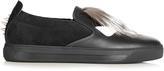 Fendi Bag Bugs leather trainers