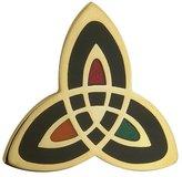 Tara Trinity Knot Brooch Plated & Black Made in Ireland