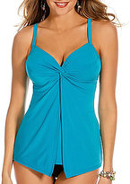 Miraclesuit Solid Love Knot DD Cup Underwire V-Neck Tankini