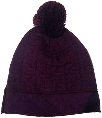 Fendi Purple Wool Hats