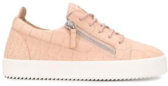 Giuseppe Zanotti Croc-Effect Low-Top Sneakers