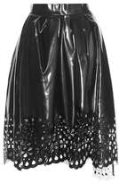 Marc Jacobs Cut-out faux leather skirt
