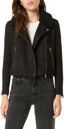 French Connection Amaranta Faux Shearling Moto Jacket