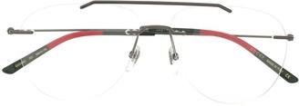 Gucci Web aviator glasses