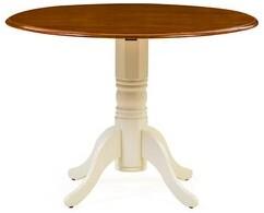 Andover Mills Pomerleau Drop Leaf Dining Table Color: Buttermilk/Cherry