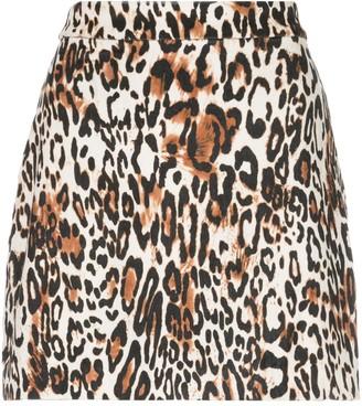 Milly Leopard Mini Skirt