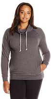 Champion Women's Plus Size French Terry Funnel Neck Top