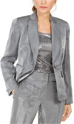 Kasper Petite Metallic Single-Button Blazer