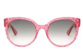 Gucci Round-frame glitter-acetate sunglasses