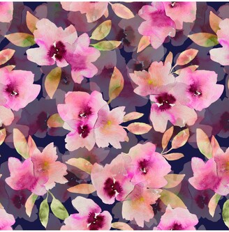 John Lewis & Partners Smudged Floral Print Fabric, Pink