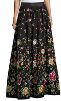 Alice + Olivia Tina Embroidered Long Ball-Gown Skirt