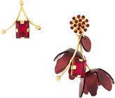 Marni floral miss-matched earrings