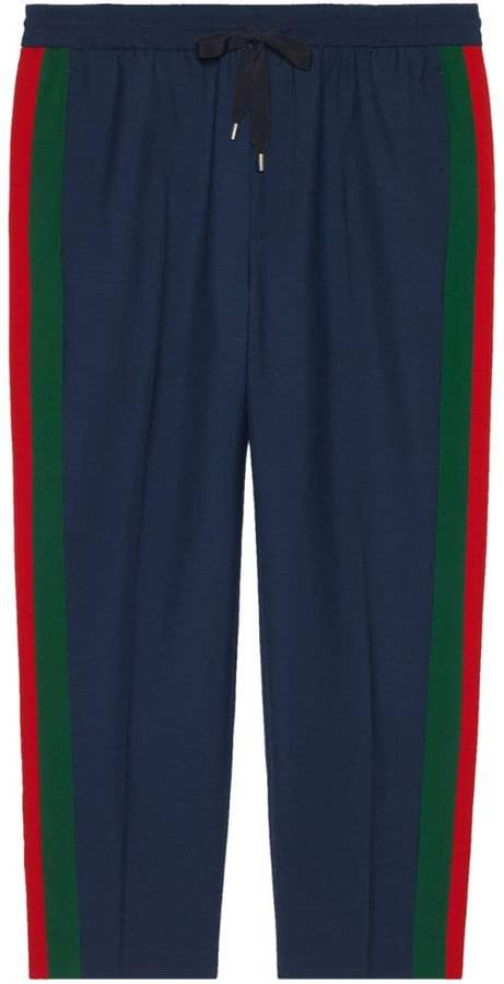 Gucci cropped trousers with stripe