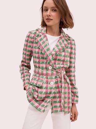 Kate Spade Plaid Tweed Blazer