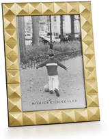 "Monica Rich Kosann Brass Pyramid 5"" x 7"" Picture Frame"