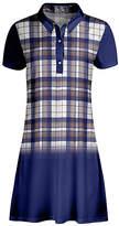 Lily Women's Casual Dresses BRN - Brown & Blue Plaid Shirt Dress - Women & Plus