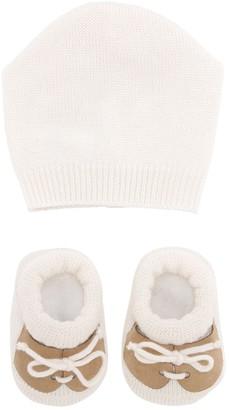 La Perla Wool Knit Hat & Socks Set