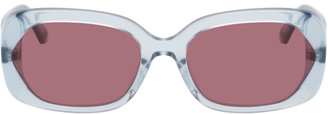McQ Blue London Calling Rectangular Sunglasses