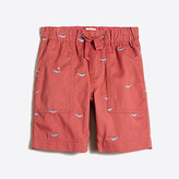 J.Crew Factory Boys' embroidered pull-on short