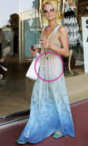 Ombre Gold Leaf Print Maxi Dress as seen on Paris Hilton, Jessica Alba and Tori Spelling in 3 colors