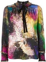 Roberto Cavalli 'Stardust' tie-neck blouse - women - Silk - 42