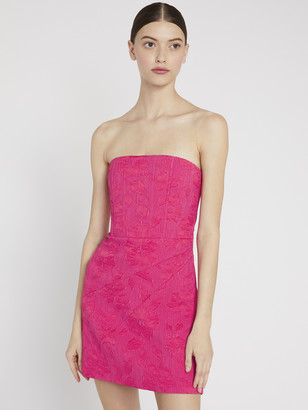 Alice + Olivia Perla Pleated Strapless Mini Dress