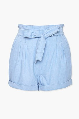 Forever 21 Chambray Paperbag Shorts