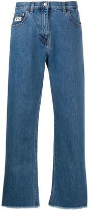 GCDS Boyfriend cropped jeans