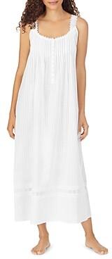 Eileen West Cotton Dobby Striped Ballet Nightgown