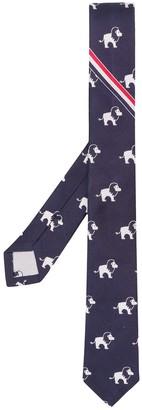 Thom Browne Lion Print Tie