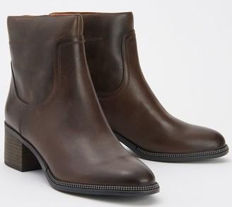Franco Sarto Leather Ankle Boots - Lilliana