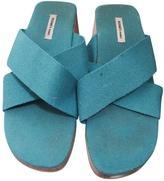 Hermes Turquoise Sandals