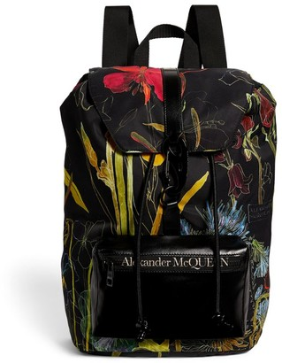 Alexander McQueen Floral Logo Urban Drawstring Backpack