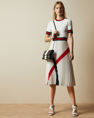 Ted Baker FYNLIE Knitted dress with pleated skirt