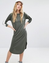 Daisy Street 3/4 Sleeve T-Shirt Dress With Contrast Arm Tape Detail