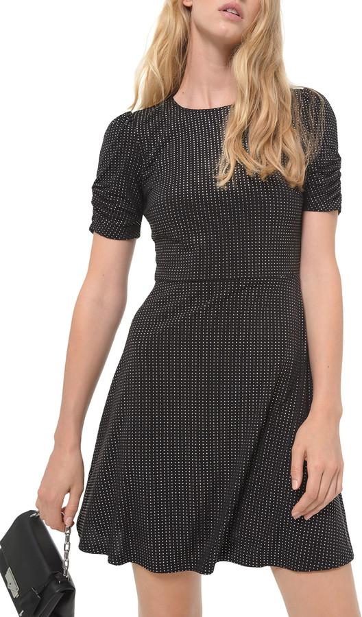 MICHAEL Michael Kors Metallic Dew Drop Short Matte Jersey Dress