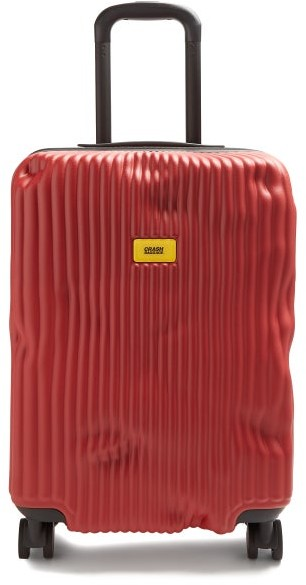 CRASH BAGGAGE Stripe 55cm Cabin Suitcase - Red