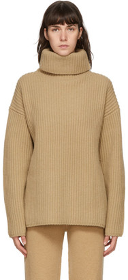 Joseph Tan Cardigan Stitch Turtleneck