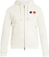 Moncler Logo-appliqué zip-through cotton sweatshirt