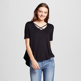 Mossimo Women's Strappy Lace Up Tee