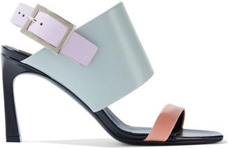 Roger Vivier Trompette Color-block Leather Slingback Sandals