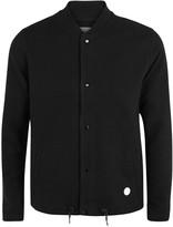 Folk Black Cotton Bomber Jacket