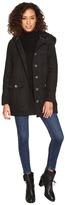 BB Dakota Gregor Microfiber Coat W/ Fur Lined Hood