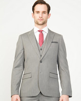 Le Château Herringbone Notch Collar Blazer