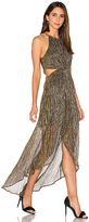 Astr Veda Dress in Metallic Gold. - size L (also in )