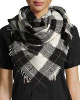 Etoile Isabel Marant Loria Plaid Wool-Silk Scarf