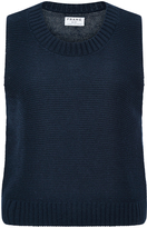 Frame Le Crop Cotton, Silk and Cashmere Sleeveless Sweater