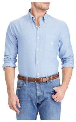 Chaps Men's Long Sleeve Solid Oxford
