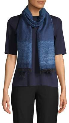 Eileen Fisher Woven Textured Silk-Blend Scarf