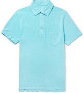 J.Crew Slim-fit Garment-dyed Slub Cotton-jersey Polo Shirt - Blue